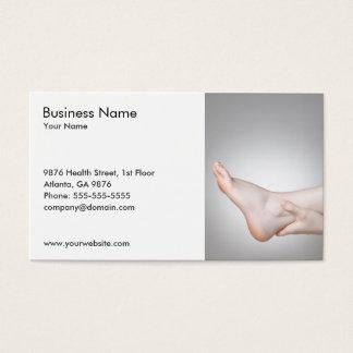 Foto original do tornozelo da mulher médica cartão de visitas