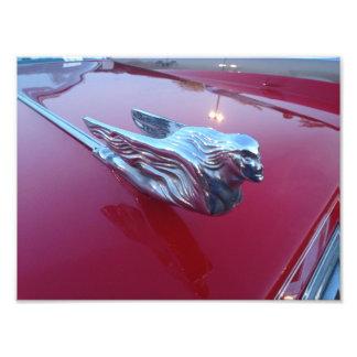 Foto Ornamento vermelho da capa da mulher do vôo do