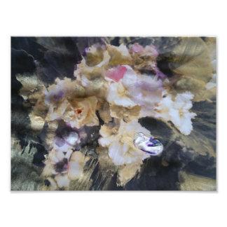 Foto Orquídeas secadas com cursos da escova do ouro