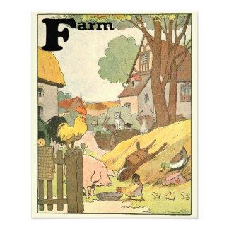 Foto Os animais de fazenda ilustraram o alfabeto