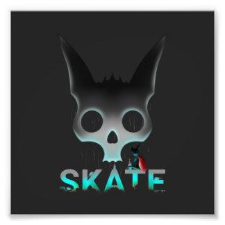 Foto Os grafites urbanos do skate refrigeram o gato