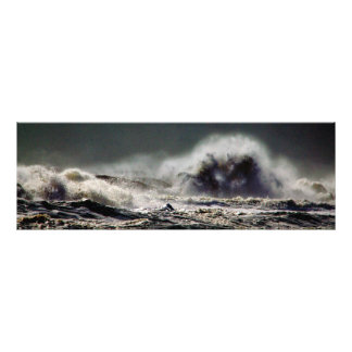 Foto Panorama da cidade do oceano da onda do monstro