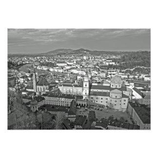 Foto Panorama da parte histórica de Salzburg.