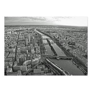 Foto Panorama de Paris da torre Eiffel