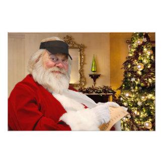 Foto Papai Noel que faz seu impressão impertinente e