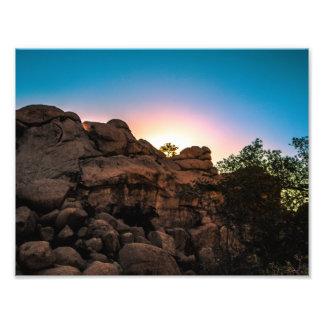 Foto Parque nacional de árvore de Joshua do nascer do
