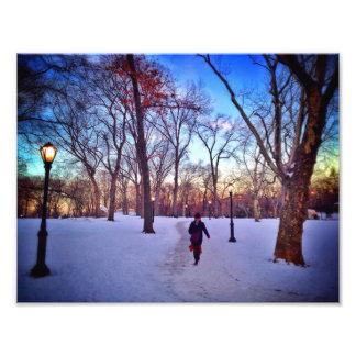 Foto Passeio sob um por do sol do inverno