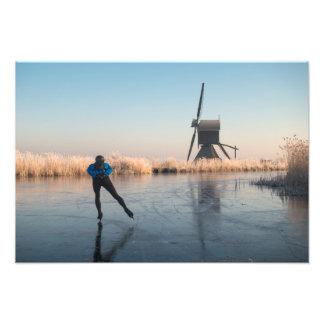Foto Patinagem no gelo após o moinho de vento e o