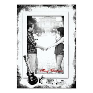 Foto pequena do Natal da música Funky da guitarra Convite 8.89 X 12.7cm