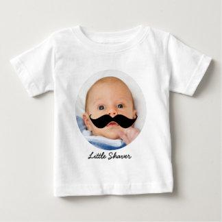 Foto pequena engraçada do costume do bigode do camiseta para bebê