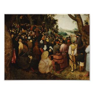 Foto Pieter Bruegel a pessoa idosa - o sermão de St