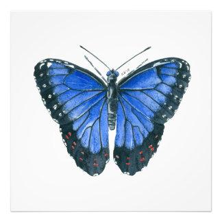 Foto Pintura azul da aguarela da borboleta de Morpho