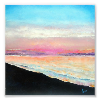 Foto Pintura bonita da praia de Pastels macios do por