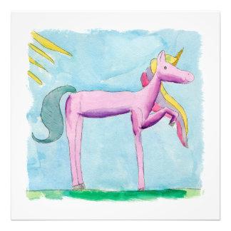 Foto Pintura criançola da aguarela com cavalo do