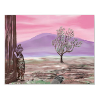 Foto Pintura de Digitas do impressão da arte - gato na