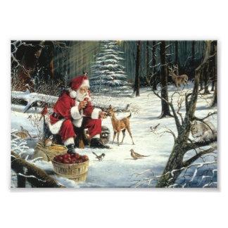 Foto Pintura de Papai Noel - arte do Natal