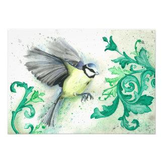 Foto Pintura do pássaro do Watercolour, impressão da
