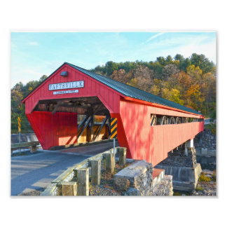 Foto Ponte coberta de Taftsville, Vermont 8x10
