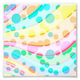 Foto Pontos e teste padrão de ondas Pastel coloridos