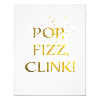 Foto POP da folha de ouro, FIZZ, sinal da festa de