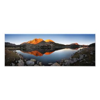 Foto Por do sol Alpenglow do lago virginia - fuga de