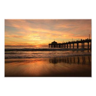 Foto Por do sol da praia do cais