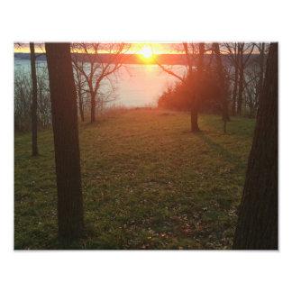 Foto Por do sol do rio Mississípi
