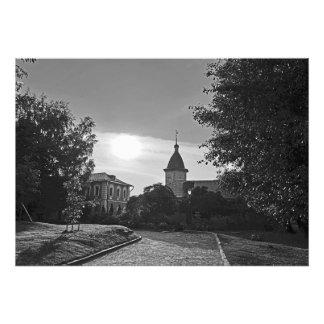 Foto Por do sol no monastério de Spaso-Andronikov em