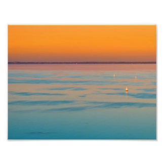 Foto Por do sol sobre o lago Balaton, Hungria