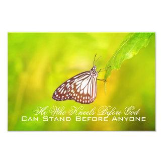 Foto Poster cristão bonito com buttefly