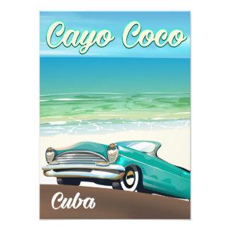 Foto Poster cubano das férias dos Cocos de Cayo