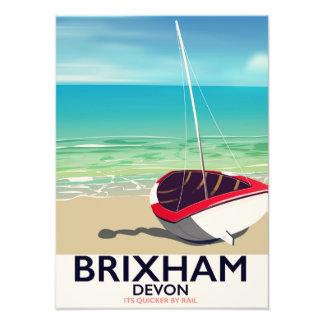 Foto Poster das viagens vintage de Devon da praia de