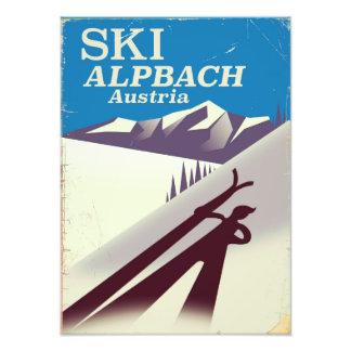 Foto Poster de viagens austríaco do esqui de Alpbach