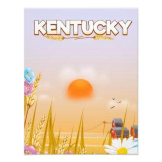 Foto Poster de viagens bonito da fazenda de Kentucky