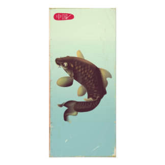 Foto Poster de viagens da carpa de Koi do estilo do