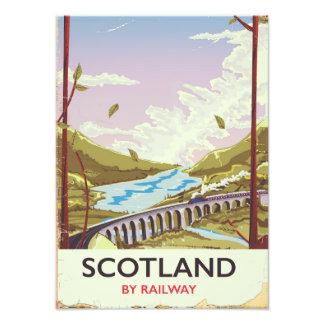 Foto Poster de viagens da locomotiva do vintage de