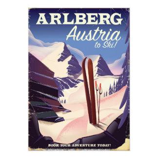 Foto Poster de viagens do esqui de Arlberg Áustria