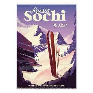 Foto Poster de viagens do esqui de Sochi Rússia