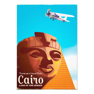 Foto Poster de viagens do estilo do vintage do Cairo