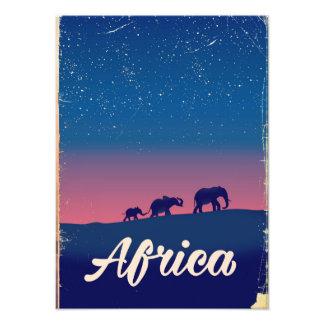 Foto Poster de viagens dos elefantes do vintage de