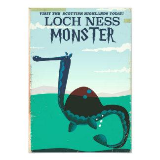 Foto Poster de viagens engraçado do monstro de Loch