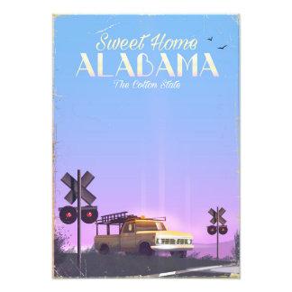 """Foto Poster de viagens """"home"""" doce de Alabama"""
