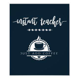 Foto Poster do presente do professor do café. Provérbio