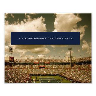 Foto Poster inspirado do tênis do sucesso da motivação