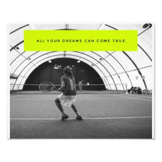 Foto Poster inspirador do tênis - inspiração