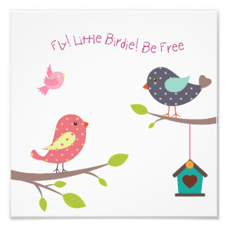 Foto Poster pequeno do pássaro para os bebés e as