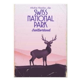 Foto Poster suíço das viagens vintage do parque