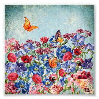 Foto Prado da flor - aguarela floral do vintage