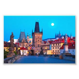 Foto Praga #001A - Ponte de Charles no alvorecer,
