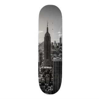 Foto preta & branca da skyline da Nova Iorque Shape De Skate 20cm